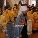 КИЕВСКАЯ ОБЛАСТЬ. Управляющий делами УПЦ совершил литургию в Борисоглебском храме Вышгорода